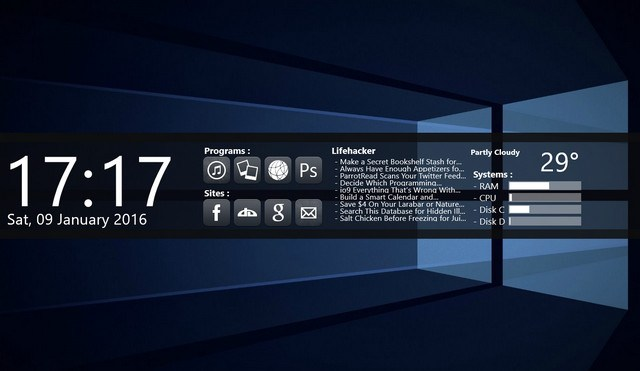 Best Rainmeter Skins-beforedawn