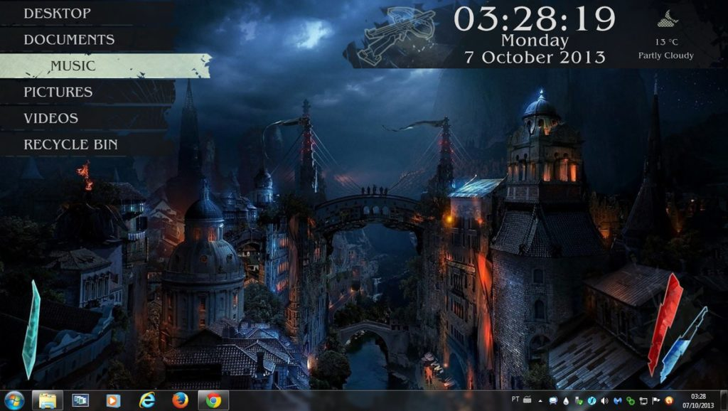 Best Rainmeter Skins-medieval_city