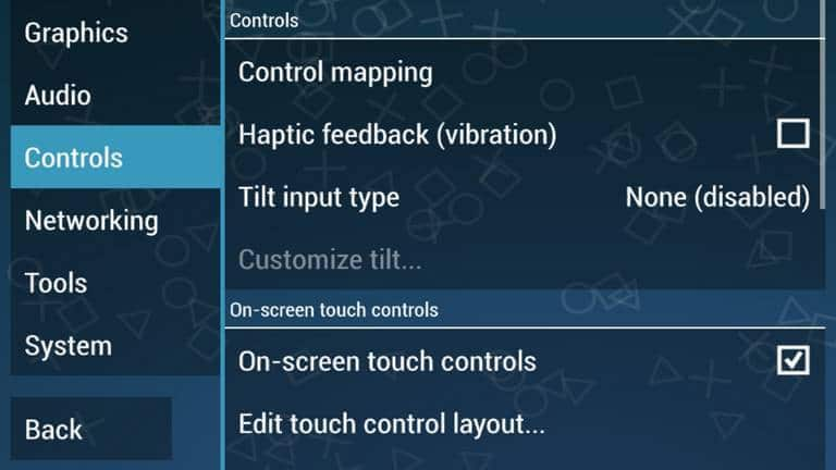 PPSSPP Controls-settings