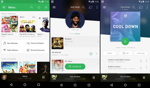 Saavn-Best-free-music-streaming-apps-in-IndiaI