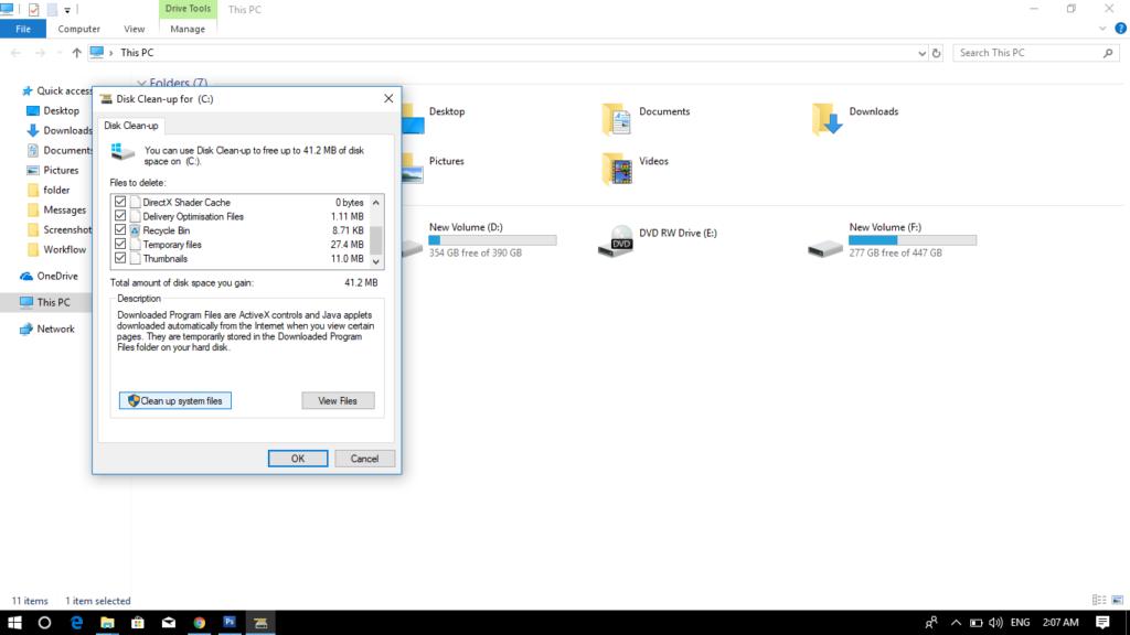 disk cleanup-Windows-10-tools-techmigi.com