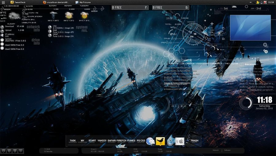 🏷️ Jarvis iron man blue rainmeter theme free download