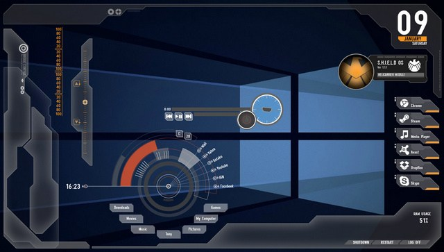 30 Best Rainmeter Skins (Themes) For Gamers, Windows 7/8/10 | Techmigi