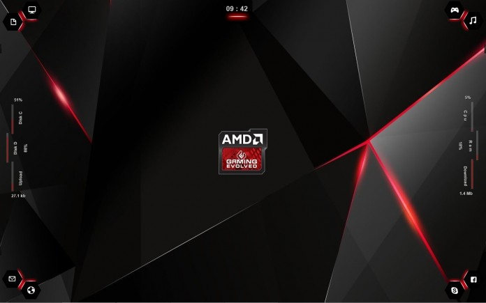 amd rainmeter skin