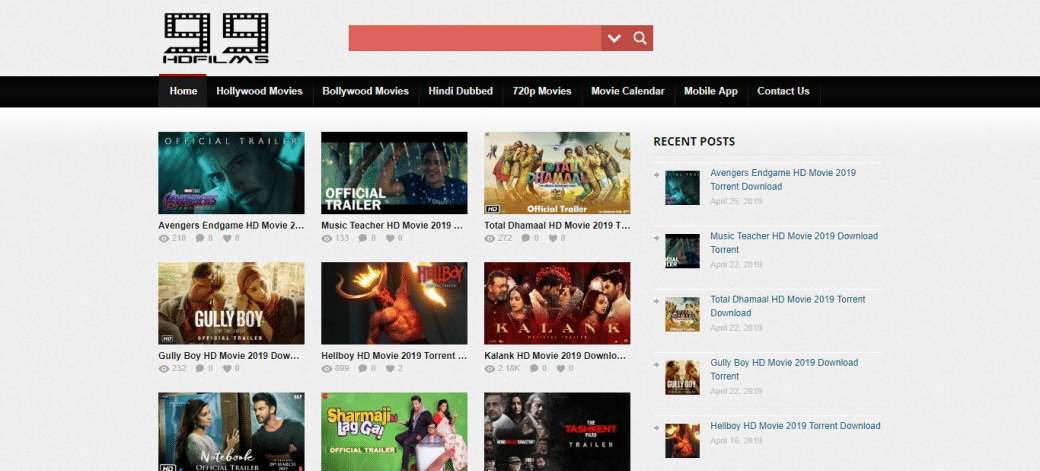 torrent download sites for bollywood movies